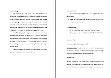 format e ktp contoh makalah tentang e ktp implementasi kebijakan e ktp