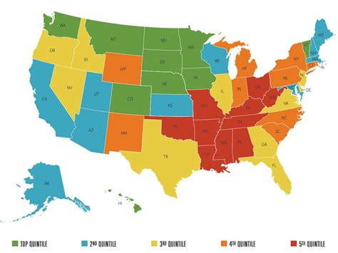 map of us states coloring page happiest states in america business insider