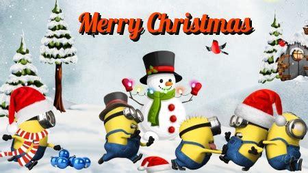 minions christmas card