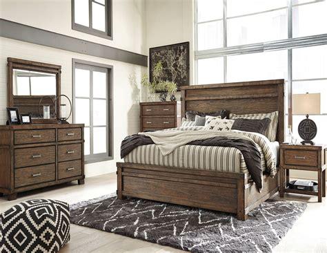 dark brown bedroom furniture leystone dark brown panel bedroom set from ashley