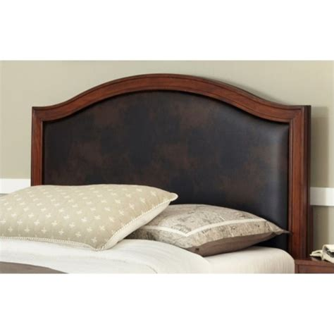 Leather And Wood Headboard by Camelback Panel Headboard With Brown 5545 X01a
