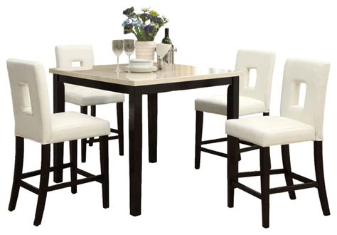 Pub Height Kitchen Table Sets 5 Counter Height Kitchen Set Slate Table Eyelet Chair Contemporary