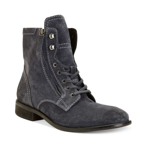 diesel boots mens diesel miliboot themil boots in gray for castlerock