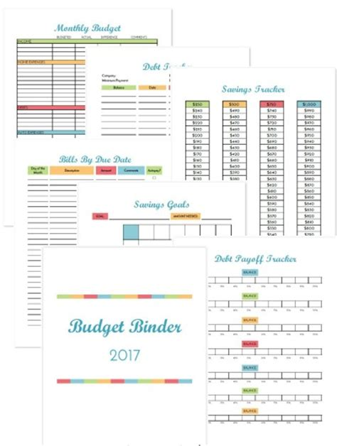 2017 budget binder printable how to organize your