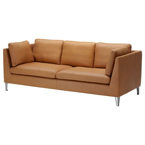 Stockholm Three Seat Sofa Seglora Natural Ikea Ikea Leather Sofa