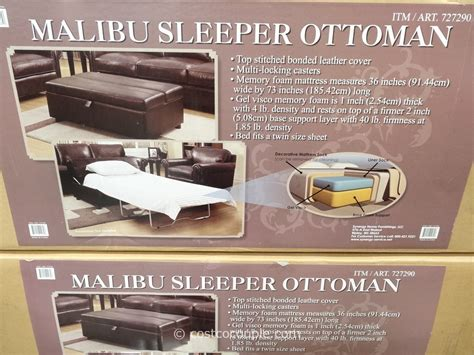 fold out ottoman bed costco sleeper ottoman ottoman and stools espresso storage