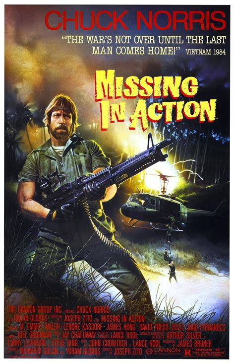 Missing In Action 1984 The Best Chuck Norris Movie Posters