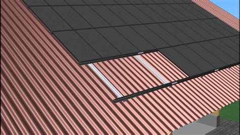 metal roofing solar panels on corrugated metal roof