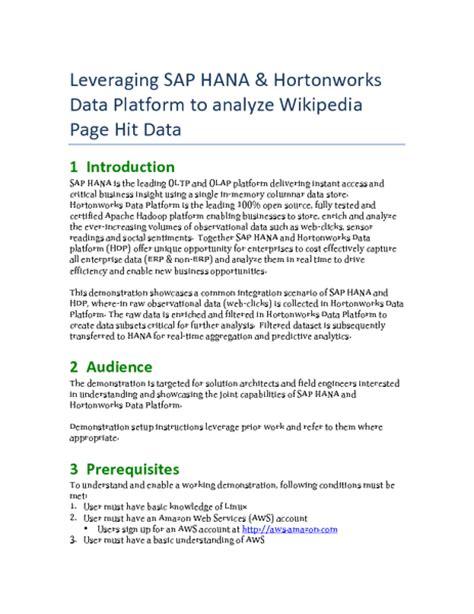 sap hana tutorial hadoop sap hortonworks instant access infinite scale with