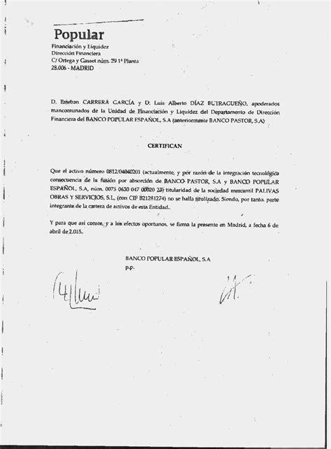 Solicitar Certificado Que Acredite La Titularidad De La Cuenta Bancaria | esclavos del sistema lo prometido es deuda una juez y un