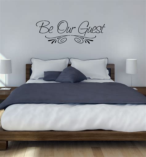 home decor sticker be our guest wall decal sticker for home decor