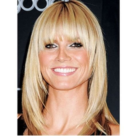 medium straight hairstyles with bangs medium straight hairstyles with bangs