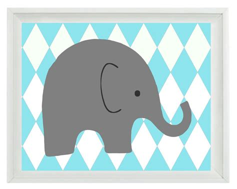 printable elephant nursery wall art elephant nursery wall art print aqua gray decor harlequin