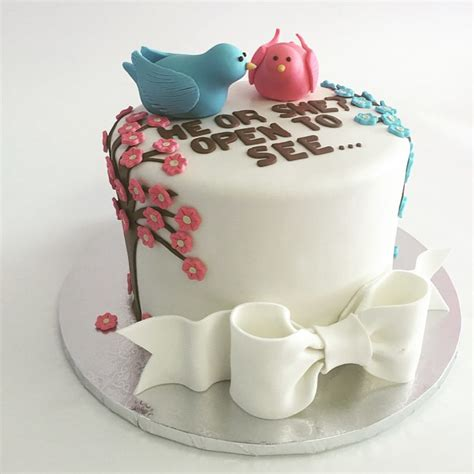 Or Cake Gender Reveal Cakes Nancy S Cake Designs
