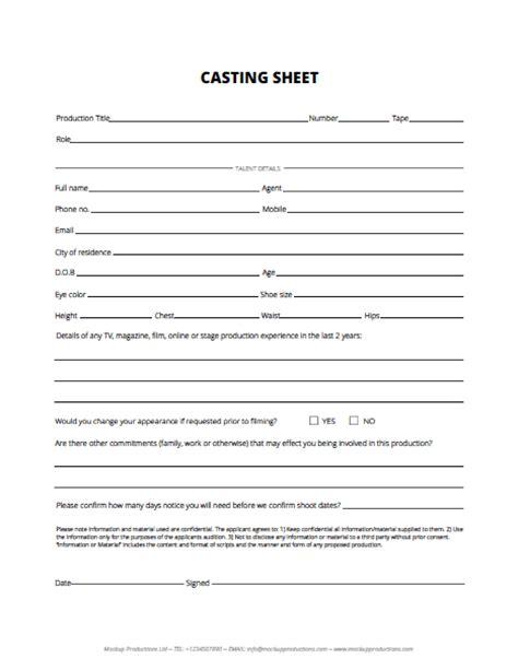 Cast Sheet vip downloads list