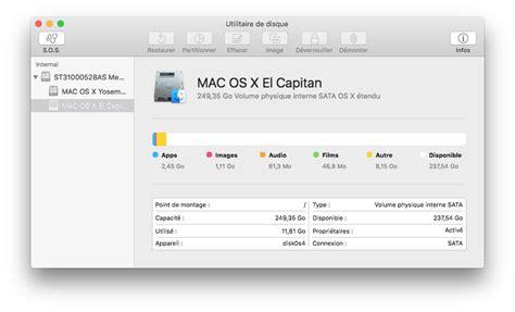 format exfat mac el capitan utilitaire de disque el capitan mac osx 10 11 macplanete