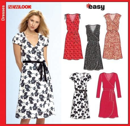 pattern review new look 6866 new look 6697 misses knit dress