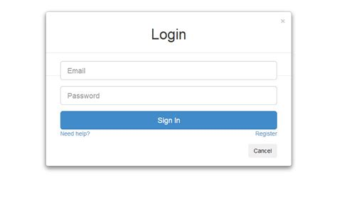 login template image gallery login form