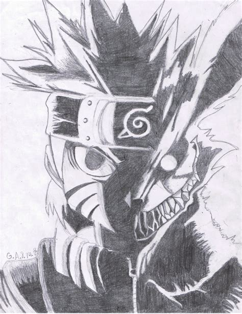 naruto nine tailed fox by twilightprincesslove on deviantart