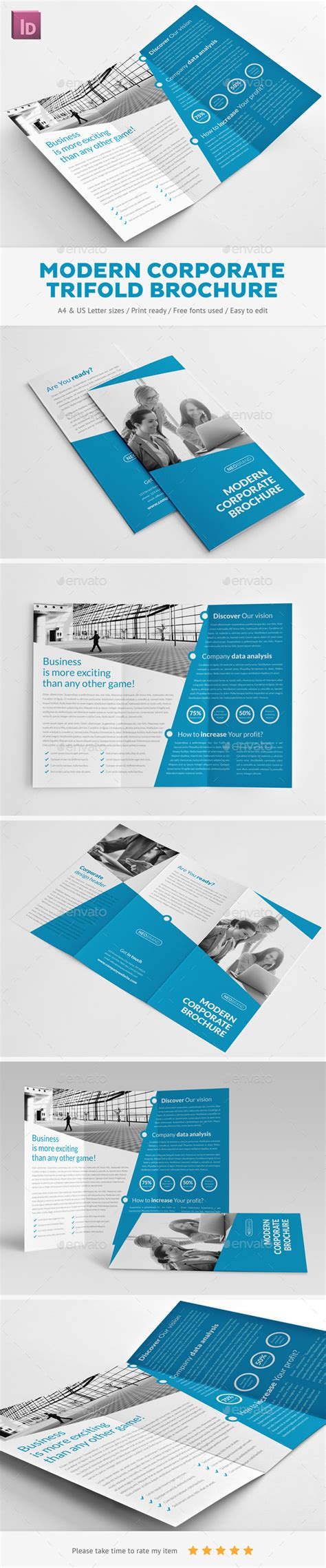 graphicriver brochure template print template graphicriver modern corporate trifold