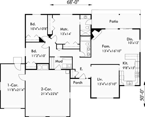 3 bedroom floor plans with garage one story house plans 3 car garage house plans 3 bedroom house
