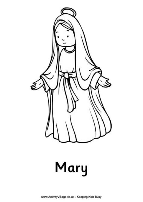 free printable mary and joseph coloring page for kids christmas nativity colouring pages mary