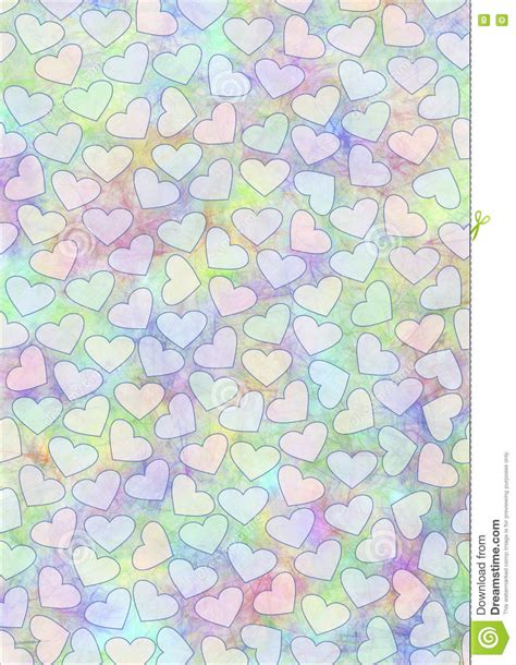 Free Pastel Color Card Templates by Watercolor Background With Hearts Template For