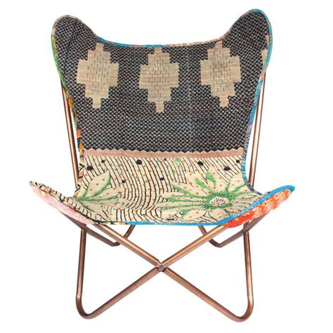 unique bargains butterfly pattern stretch chair protector kantha butterfly chair by karma living fab com