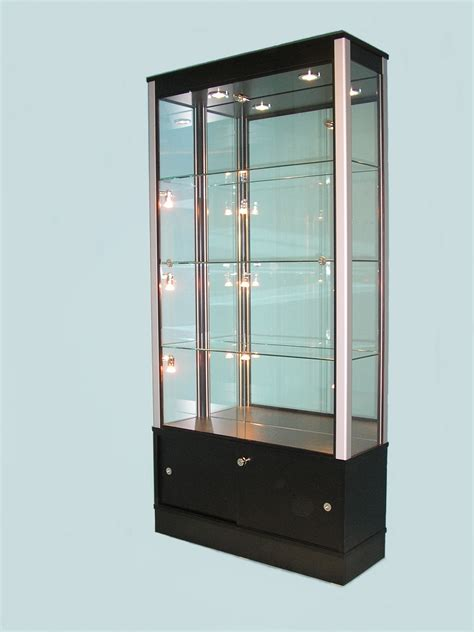 wood and glass display cabinet glass display cabinet grey display cabinet wood glass