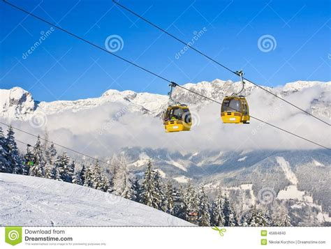 Ski Lift Lodge And Cabins by Cabin Ski Lift Ski Resort Schladming Austria Editorial