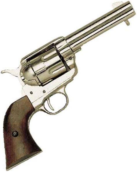 Army 45 Revolver Blank Firing western peacemaker pistol nickel finish non firing