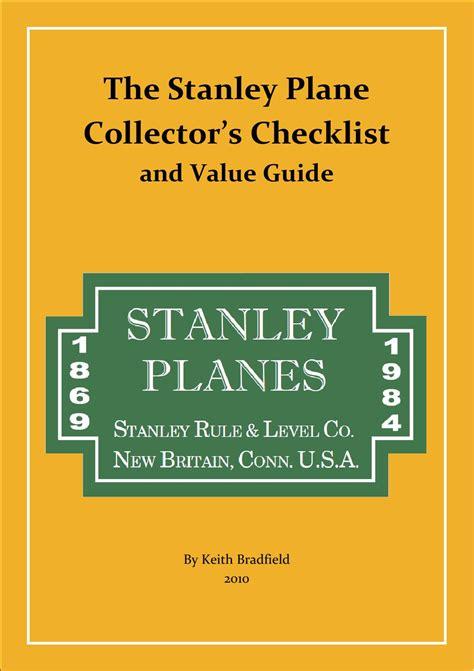 stanley plane collectors checklist   guide