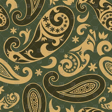 paisley seamless pattern vector seamless brown paisley pattern vector image 65615 rfclipart