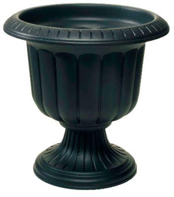 black urn planter 2 novelty mfg 38148 14 quot black classic porch urn plastic planters ebay