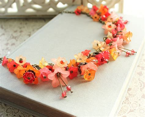 how to make lucite jewelry lucite flower necklace flower charm necklacetangerine