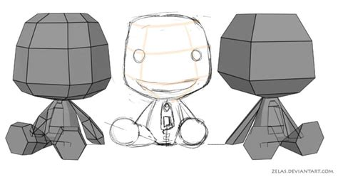 Sackboy Papercraft - wip sackboy papercraft by zelas on deviantart