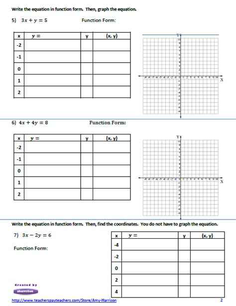 Graphing Linear Equations Worksheet Pdf by 301 Moved Permanently