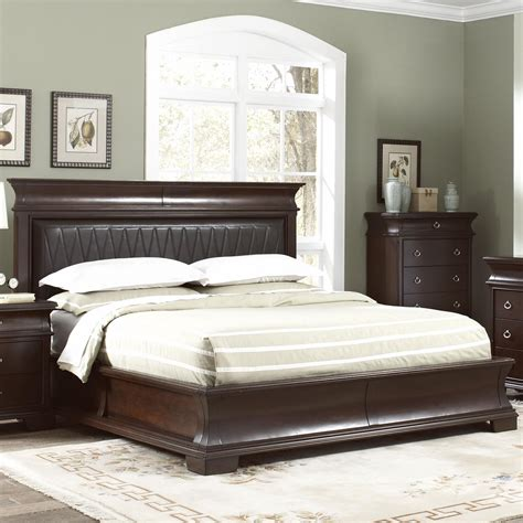 eastern king size bed coaster 202611ke brown eastern king size wood bed steal