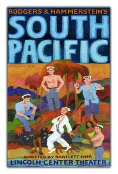 lincoln center south pacific camelot poster broadway theater play 14x22