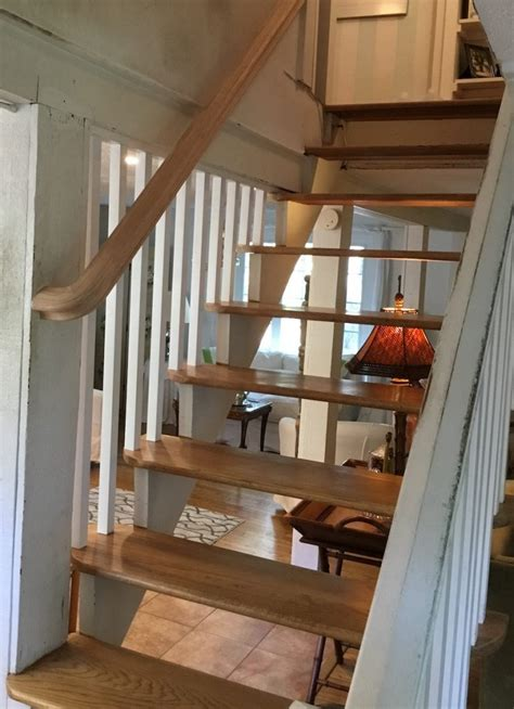 new banister and spindles adding spindles and a banister to floating stairs monk s