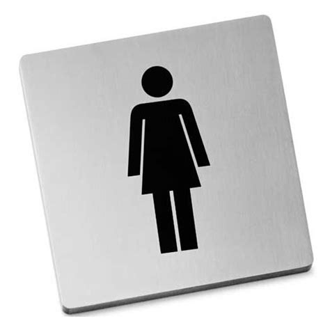 stainless steel bathroom signs zack indici information sign stainless steel women