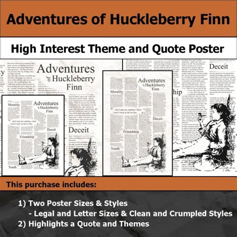 themes of rejection in huckleberry finn visual theme quote posters
