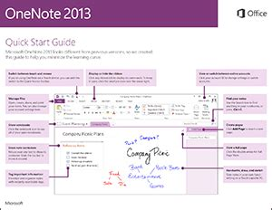 onenote 2013 quick start guide onenote