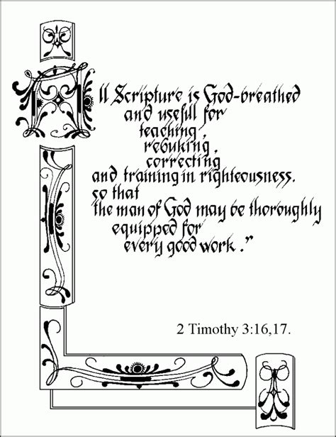 Coloring Page 3 16 by Coloring Pages 2 Timothy 3 16 The Jinni