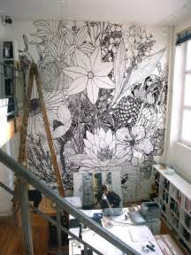 this large scale flower mural reminds me of our flower power casart creating a wall mural in a kid s room diy