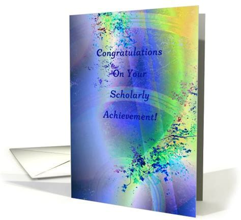 Congratulations! Scholarly Achievement card (822426)