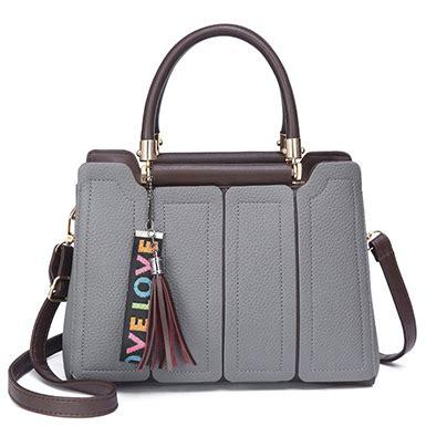 Panel Satchel Bag s satchel bag panel inserted gray