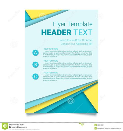 creative poster design vector creative flyer template modern poster brochure business