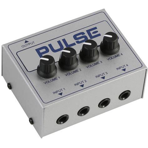 Mixer Mini pulse 4ch passive line mini mixer mixers from inta audio uk