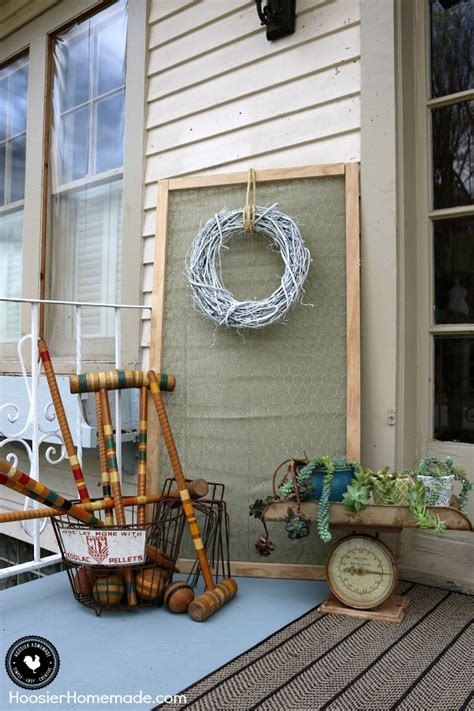 Decorate Front Porch front porch decorating ideas on a budget hoosier homemade